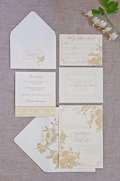 Creative Montage's wedding invitation design