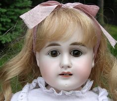 "22"" Turned Bisque Shoulderhead Doll by ABG from dollroom on Ruby Lane"