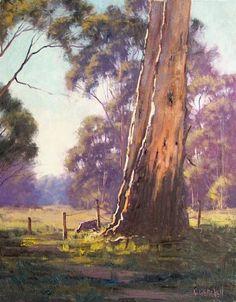 such an iconic Australian scene, love it Australian Painting, Australian Artists, Watercolor Trees, Watercolor Paintings, Landscape Art, Landscape Paintings, Australia Landscape, Tree Artwork, Traditional Paintings