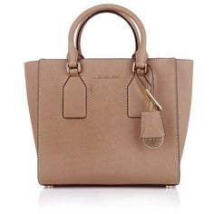 Michael Kors Handle Bags, MICHAEL Selby MD Satchel Dark Khaki Handbag (£259) ❤ liked on Polyvore featuring bags, handbags, purses, bolsas, sac, brown, michael kors satchel, leather satchel handbags, leather satchel and leather purse