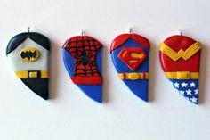 Customisable Superhero Friendship by CharmingClayCreation on Etsy