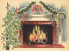 Christmas Fireplace, Christmas Past, Merry Little Christmas, Christmas Images, Christmas Greetings, Christmas Holidays, Christmas Ideas, Christmas Crafts, Victorian Christmas