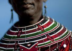 #AfricanShop #AfricanFlags #National flag on bead necklaces - Kenya, via Flickr.