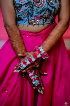See the photo of Vishal & Vritika Wedding Mehendi Night, Bridal Make Up, Indian Outfits, Wedding Planning, Wedding Ideas, Indian Fashion, Cuff Bracelets, Jewelry Design, Bride