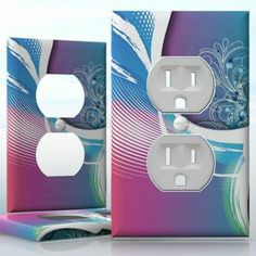 DIY Do It Yourself Home Decor - Easy to apply wall plate wraps | Vacation on the Beach Beautiful image with seastar wallplate skin sticker for 1 Gang Wall Socket Duplex Receptacle | On SALE now only $3.95