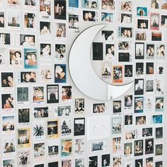 Dream room goals via Crescent Moon Mirror SKU Dream Rooms, Dream Bedroom, Girls Bedroom, Bedroom Decor, Bedrooms, Wall Decor, Bedroom Inspo, Polaroid Wall, Polaroids On Wall