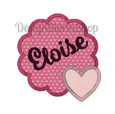 Heart Applique Design Scallop Frame/Love Valentine Valentines Day Valentine's machine embroidery by DesignStormShop