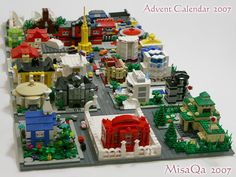 Lego micro-build town