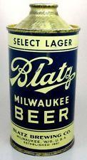 vintage old looking BLATZ cone top beer can sign t shirt Milwakee Wisconsin