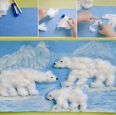 Crafts and games for children - Weihnachten - Winter Art Projects, Winter Crafts For Kids, Winter Kids, Projects For Kids, Art For Kids, Winter Activities, Art Activities, Animal Crafts, Elementary Art