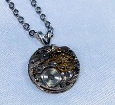 Steampunk Necklace with Antique Typewriter Key by MizzMechanique, $52.00