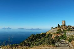 Piraino with Aeolian Islands view. Province of Messina