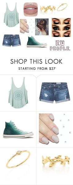 """Ewww people!"" by delaney51504 on Polyvore featuring RVCA, AG Adriano Goldschmied, Converse, Sydney Evan and Tiffany & Co."