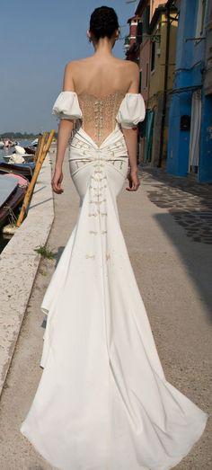 Featured Dress: Inbal Dror; Wedding dress idea.