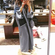 Denim abaya cause why notlove her designs check them out @sheenline