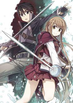 Asuna y Kirito.