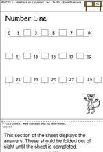 Worksheets for numeracy fluency