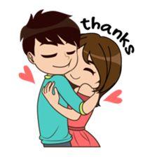 So Much Love 2 sticker Love Cartoon Couple, Cute Couple Comics, Cute Cartoon Pictures, Cute Love Couple, Cartoon Pics, Cute Love Stories, Cute Love Pictures, Cute Love Gif, Funny Love