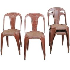 French Tolix Chairs | From a unique collection of antique and modern side chairs at http://www.1stdibs.com/furniture/seating/side-chairs/
