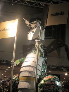 The friendly Makedo dragon by Master Maker Eric Serviss