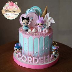 Cartoon Birthday Cake, Doll Birthday Cake, Funny Birthday Cakes, Fruit Birthday, Baby Doll Cake, Lol Doll Cake, Fete Marie, Bottle Cake, Surprise Cake