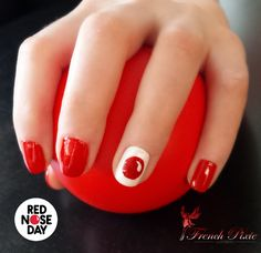 It's that red dot that makes all the difference! Show us your #RedNoseDay nail art! Learn more about the main event by visiting rednoseday.org today. | Red Nose Day USA