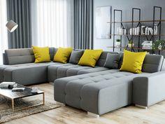 Moderná a dizajnová sedacia súprava 🖤BELLIS🖤 ponúka všetko, čo očakávate od sedačky. 🤗 Vďaka svojim rozmerom je sedačka ideálna pre veľkú rodinu alebo pre tých, ktorí často prijímajú návštevu. 👍 #sedacka #sedaciasuprava #modernasedacka #lacnasedacka #krajsidomov #interierovydesign #nabytok #temponabytok Exterior Design, Interior And Exterior, Grey And Yellow Living Room, Modern Home Interior Design, Couch, Furniture, Home Decor, Ideas, Products
