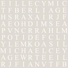 Identity Papers Bespoke Word Search Wallpaper has been made in a traditional font on a subtle neutral ground to include family names