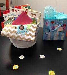 How I love this baby shower gift idea!  Baby Book Basket #babyshowergift