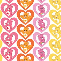 Buy Fabric, Pink Fabric, Cotton Fabric, Woven Fabric, Care Bear Heart, Michael Miller Fabric, Care Bears, Thing 1, Tablet Cover