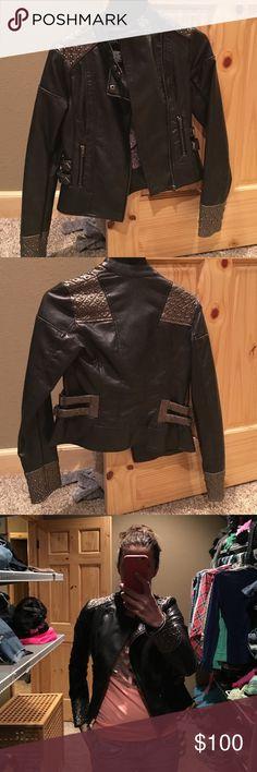 Bke faux leather jacket Bke studded faux leather jacket BKE Jackets & Coats
