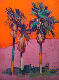 Paint Pony Palms ©Jennifer Evenhus Pastel ~ 12 x 9  ~ SOLD