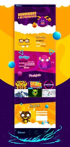 WEB Oscar Creativo on Behance Website Design Inspiration, Graphic Design Inspiration, Web Design Trends, App Design, Game Websites For Kids, Cartoon Website, Kids Web, Ticket Design, Kids Logo