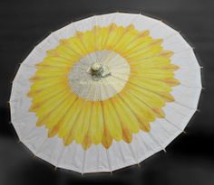 Custom, personalized and one of a kind parasols. www.designAnn.Etsy.com https://www.etsy.com/listing/155373659/sunflower-parasol?ref=shop_home_active