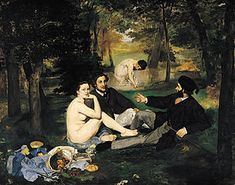 Edouard Manet - Le Dejeuner Sur L'herbe-Love the symbolism in this one as well! I got to see this in Paris!
