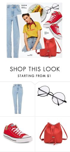 """""""No Honey"""" by monmondefou ❤ liked on Polyvore featuring Topshop and Converse"""