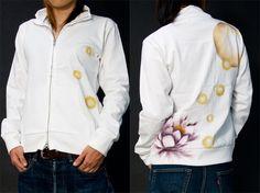 ジップジャケット「月下美人」
