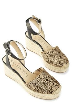 Dotted haircalf espadrille wedge | Sole Society Channing
