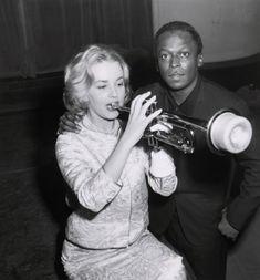 Jeanne Moreau & Miles Davis en 1957. Photographie Corbis Images
