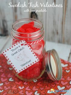 Swedish Fish Valentines Crafts with free Printable Valentine