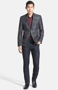 HUGO Sportcoat & Hudson Jeans Skinny Jeans  available at #Nordstrom