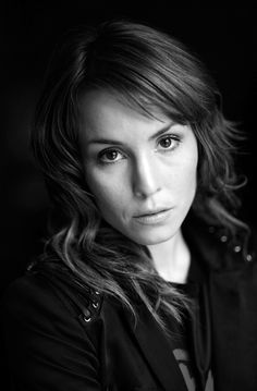 Noomi Rapace, Lisbeth Salander, actress, gloomy, beautiful, female, woman, brown eyes, portrait, black and white, celeb, famous
