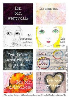 Affirmationskarten zum herunterladen, ausdrucken und nutzen auf www.UrsulaMarkgraf.com
