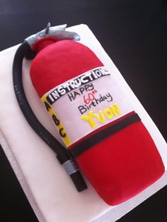 Fire Extinguisher ~ Made by Love My Cake