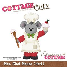 CottageCutz Mrs. Chef Mouse (4x4) awe cute :)