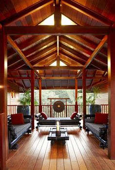 Latest insights about Balinese and Hawaiian architecture projects by Tropical Architecture Group, Inc. Read more information about architecture projects! Balinese Interior, Balinese Decor, Asian Interior, Bali Architecture, Tropical Architecture, Style At Home, Cabana, Outdoor Rooms, Outdoor Living