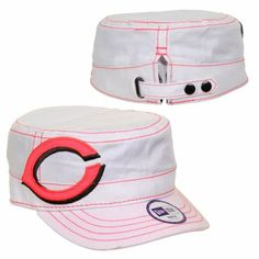 New Era Cincinnati Reds Youth Girls Fashion Chic Cadet Adjustable Hat - White