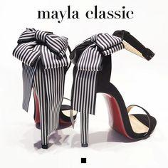 Rozerk「優雅なストライプリボンをモードに落とし込む」 #mayla_classic #sandal