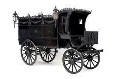 Funeral carridge - imperial court of Vienna/Austria shown at Wagenburg Schönbrunn Palace