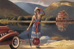 Kai Fine Art is an art website, shows painting and illustration works all over the world. Florence Academy Of Art, Pin Up, Paint Photography, Garage Art, Art Deco Posters, Peregrine, Paintings I Love, Pulp Art, Retro Art